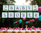 The Little Mermaid Baby Shower Banner / Princess Ariel Baby Shower Banner / Ariel Baby Shower Banner / Mermaid Banner / Instant Download
