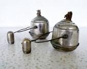 Vintage Smudge Pot Oil Lanterns with Wicks Metal Swing Bail