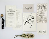 Rustic Program, Menu, Escort Card, Place card, Table Number