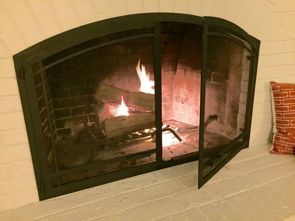 Arched Fireplace Screen Doors