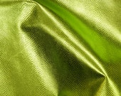 """Leather 8""""x10"""" Light LIME Green Metallic AMAZON COBRA Snake Embossed Cowhide 2.5 oz / 1mm PeggSueAlso™ E2846-04"""