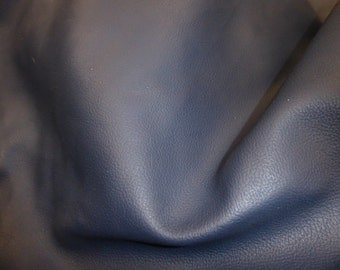 "OVERSTOCK Leather Sale 2 Pieces 8""x10"" MATTE Navy or Dark Blue ECONOMY Upholstery Cowhide 3 oz / 1.2 mm PeggySueAlso™"
