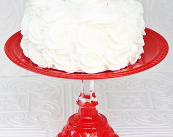 Cake Stand- Cupcake Stand Red Serving Platter Made To Order