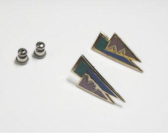 Laurel Burch SPIRIT Earrings - Cloisonne - Retired Design - Discontinued Lined - Vintage