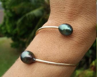 12G Tahitian pearl Cuff