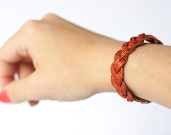 Braided Leather Bracelet / Sweet Heat
