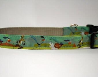 Road Runner dog collar, Looney Tunes Cartoon dog collar, Wile Coyote, Beep-Beep! nylon collar, pet gift, dog accessory, Bozies Bags