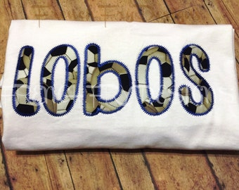 Personalized Applique T-Shirt Customized with Soccer Team Name