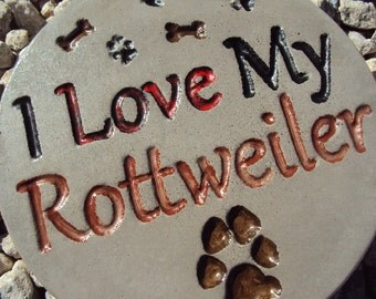 Rottweiler, Dog Stone, Handmade Engraved Stone Wall Hanging, Inside Outside