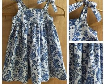 Flowered  Boho Style Sundress, size 3t