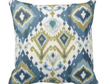 chair pillow, throw pillows, decorative pillows, ikat couch pillows, blue ikat pillow covers, ikat pillows, blue pillows, lumbar pillow