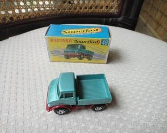 Matchbox Superfast #49 Mercedes UNIMOG Metallic Blue