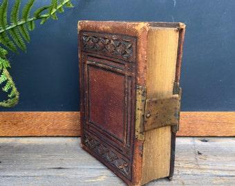 Antique Photo Album - Vintage Photography - Late 1800's - Leather Bound - Sepia Photos