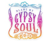 Boho Stickers, Boho Decal, Vinyl Stickers, Laptop Stickers, Gypsy Stickers
