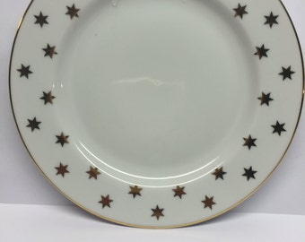 1992 Plate Party Time White by American Atelier Gold Stars 1992