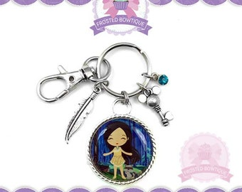 Princess Pocahontas & Meeko Key Chain - Keychain Purse Charm