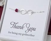 Godmother infinity bracelet,Godmother jewelry,gift for godmother,baby shower gift for godmother,infinity pearl bracelet