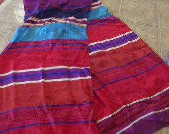multi colored slik scarf, shawl