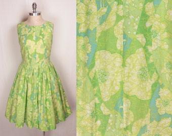 1960s day dress // batik print