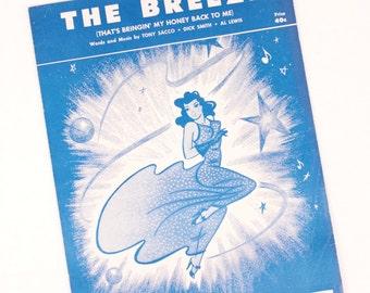 vintage sheet music // the breeze