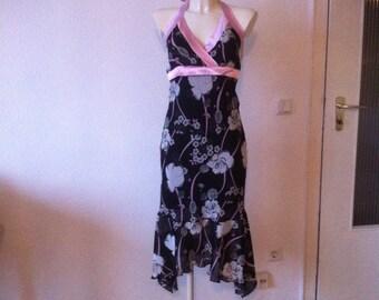 SALE Floral Neckholder Boho Midi Dress Open Back