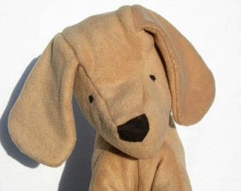 Puppy Dog Toy, Organic Stuffed Animal, Hand-dyed GOTS Certified Organic Cotton & Alpaca Stuffing