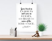 Psalm 20:7. We trust in the name of the Lord our God. 8x10in.  DIY Printable Christian Poster. PDF.Bible Verse.