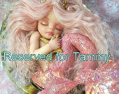 Reserved for Tammy OOAK art doll fantasy mermaid baby polymer clay sculpture fairy handmade collectable  IADR       free shipping