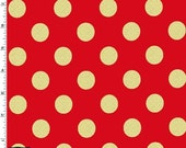 Metallic Gold Dots on Cherry Red from Michael Miller's Glitz Collection