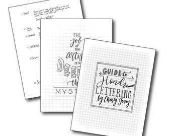 Hand Lettering Guide - by Christy Toney