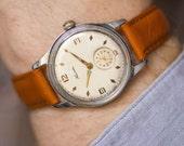Classical men's watch KAMA,vintage men watch shockproof,dust protected wristwatch mechanical,dress watch men gift,new premium leather strap