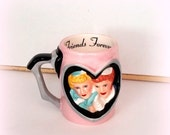 FALL SALE LUCY & Ethel Mug - I Love Lucy - Vintage Collectible Mug - Glazed Ceramic - By Vandor