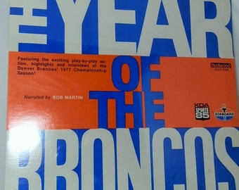 Vintage Vinyl LP Record Album The Year of The Broncos 1977 Unopened Factory Sealed Collectible Excellent Condition Fleetwood FCLP 3104