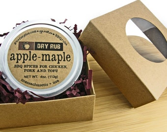 Your Choice - Single 4oz. Barbecue Rub in Gift Box - Steak, Apple-Maple, Texas - Perfect Stocking Stuffer!