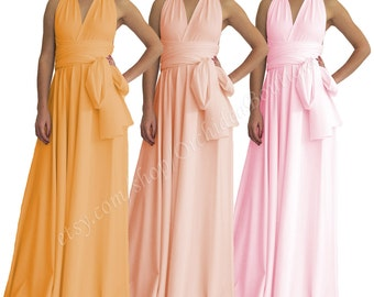 MAXI Bridesmaid Dress Prom Dress Wedding Dress Infinity Dress Convertible Dress Wrap Dress Multiway Dress Cocktail Dress Maxi Dress