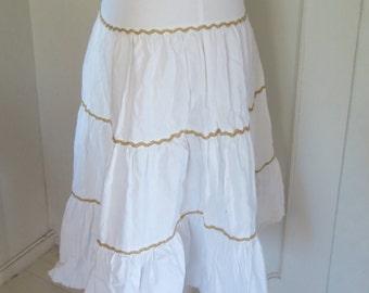 Vintage white flounce skirt Gypsy