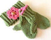 Crocheted Mittens and Headband -  for 2-5 year olds