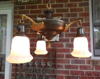 Antique Ceiling Light Fixture Greek Revival Chandelier