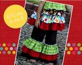Kara's Triple Ruffle Pants PDF Pattern sizes 6 months to size 8