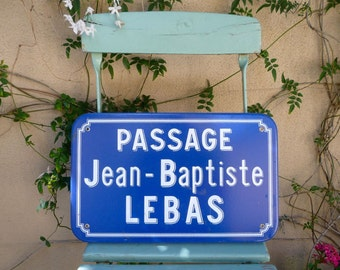 Vintage French Sign Street Sign Blue Enamel Antique Sign Large Street Sign Industrial Sign France