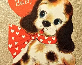 Vintage Dog Valentine Hallmark