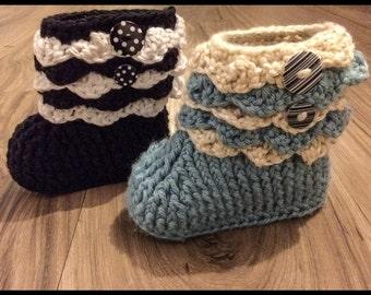 Adeline Ruffle Boots