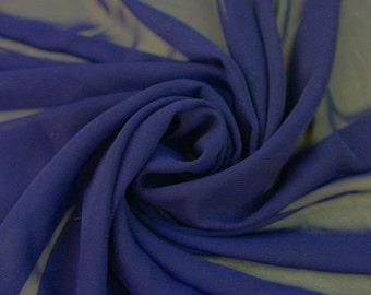 Hi Multi Chiffon Fabric Royal Blue- 10 yards