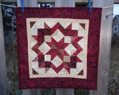 Buggy Wheels,  Christmas Decorator quilt, Christmas Wall Art 1129-02