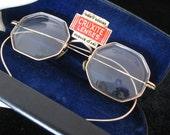 Reserved for Elliott- Vintage Antique 1930s Eyeglasses - MC GF Octagon Spectacles