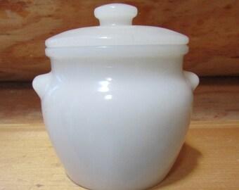 Dutchess Cheese Milkglass Jar No. 12