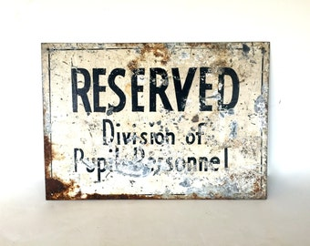 Vintage hand painted sign