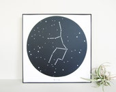Virgo Constellation Cut Paper Art - Zodiac Star Chart - Unique Birthday Gift [August 23 - September 22]