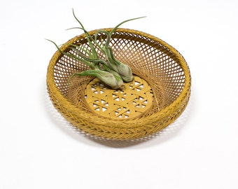 Vintage Basket / Wall Hanging / Fruit Bowl, Asian Bohemian Home Decor