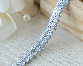"20 yard 1.3cm 0.51"" wide gray elastic stretch tapes lace trim trimming ribbon Lvrttr free ship"